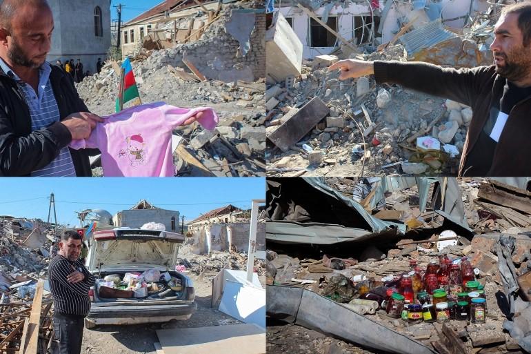 Entourés de décombres, les Azerbaïdjanais pleurent leurs pertes (Al Jazeera)